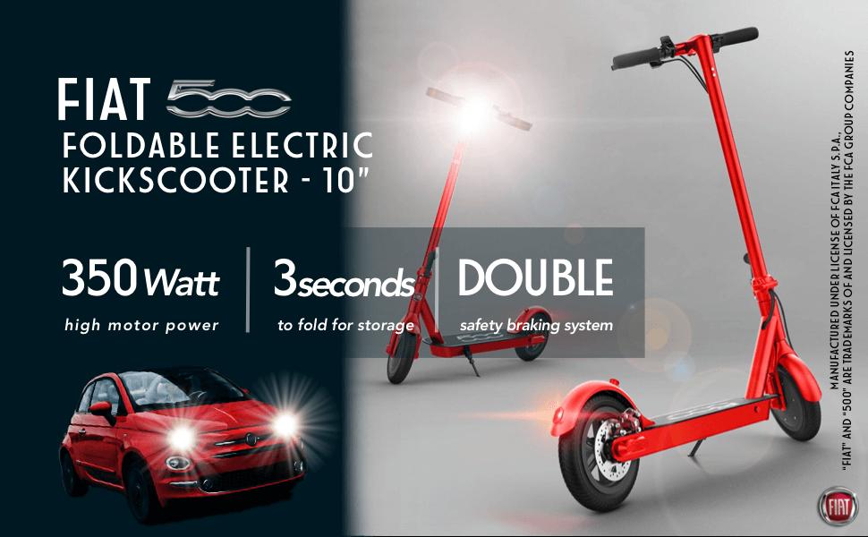 Hulajnogi elektryczne Fiat - wygląd nawiązujący do klasyki