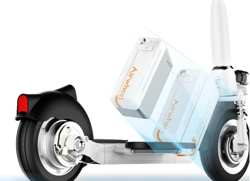 hulajnoga elektryczna airwheel z5 strong wyjmowany akumulator